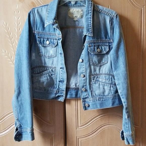 Old Navy Jackets & Blazers - Distressed cropped jean jacket